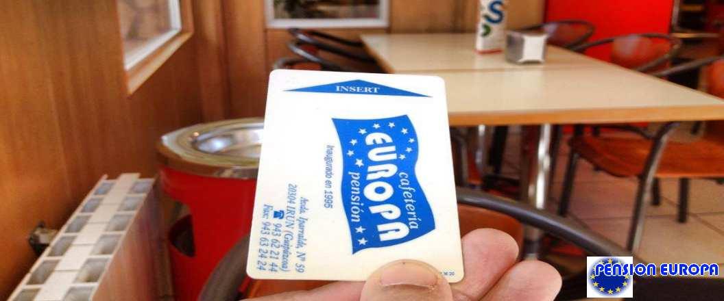 tarjeta Pensión Europa con logo